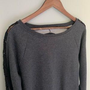 Fabletics Tops - Fabletics Open Back Sweatshirt NWT Size XL